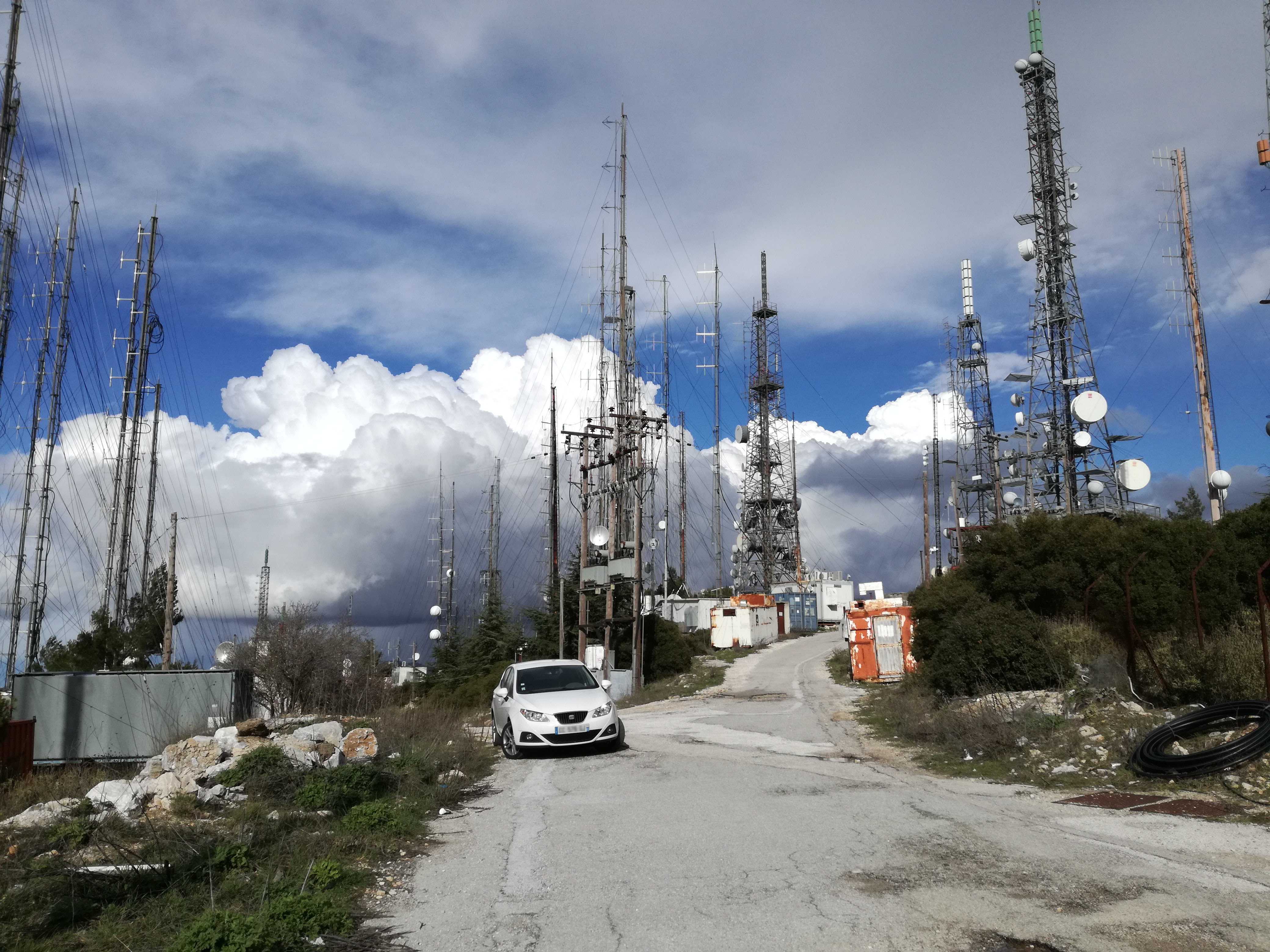 Greece - FM / TV Antennas & Cell Tower - Hymettus ( Athens )